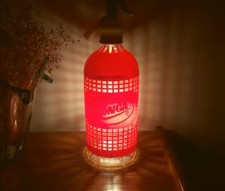 lámpara sifon vintage Konga