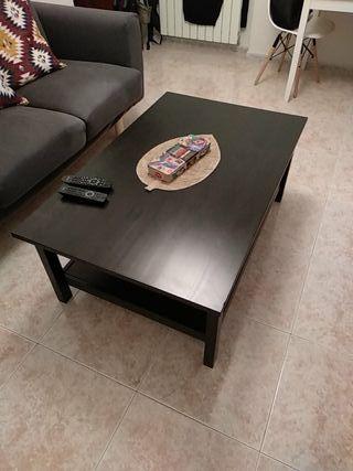 mesa centro salon negra IKEA