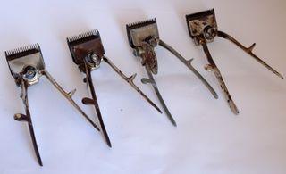 Maquinas corta pelo manual antiguas varias marcas