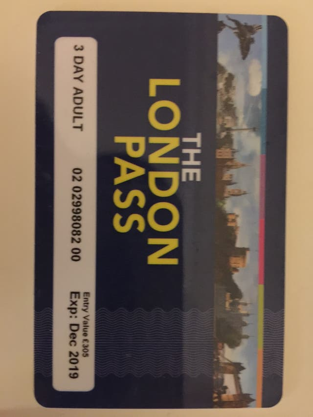 3 day adult London pass