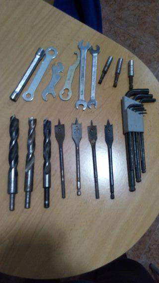 lote herramientas brocas grandes y buenas