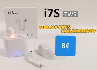 Auriculares bluetooth tipo iPhone con caja recarga