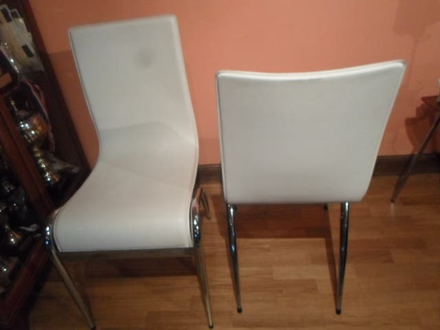 4 sillas diseño cuero salon comedor de segunda mano por 100 € en ...