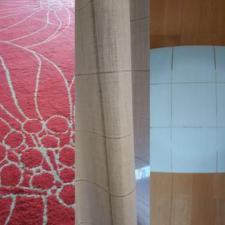 cortina alfombra plafon