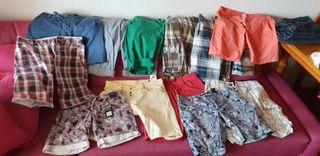 pantalones cortos, camisa y zapatos