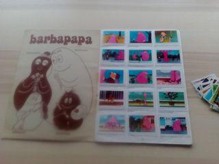 Álbum completo de Barbapapá + algunos cromos