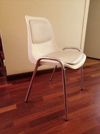 silla blanca 5 unidades
