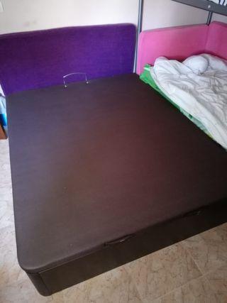 cama 150 canapé + colchón