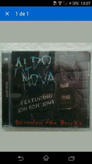 ALDO NOVA BLOOD ON THE BRICKS CD NUEVO BON JOVI 91