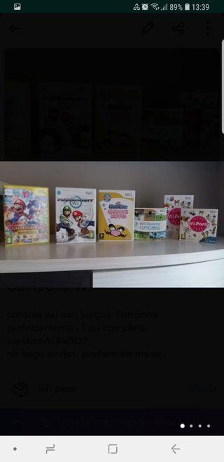 Consola Wii con accesorios