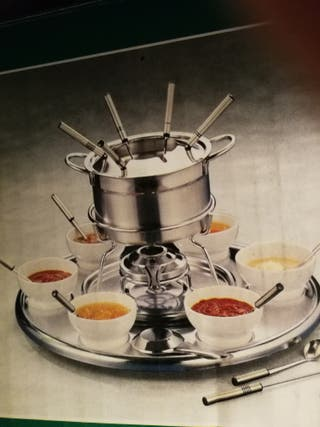 fondue inox giratoria 6 personas