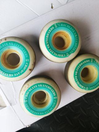 ruedas skate chocolate