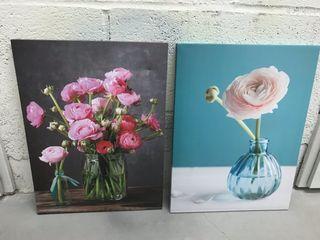 Pack de dos cuadros de flores