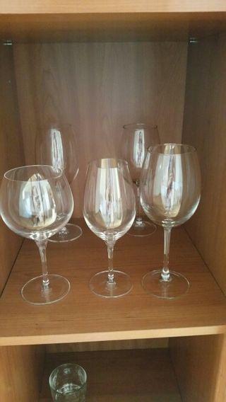 9 copas de cristal