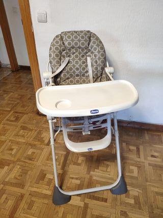 trona hamaca silla elevador bebe Chicco plegable