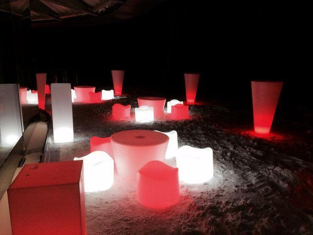 Muebles de exterior con luz
