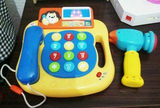telefono educativo y martillo musical