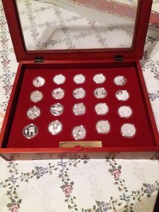 coleccion de monedas de plata completa con estuche