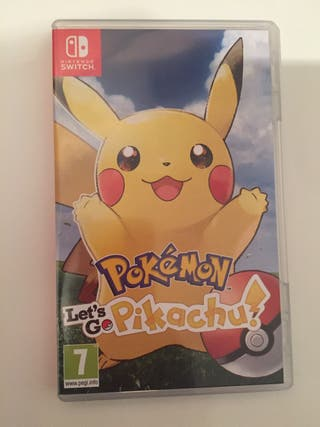 Pokemon let's go Pikachu Nintendo switch