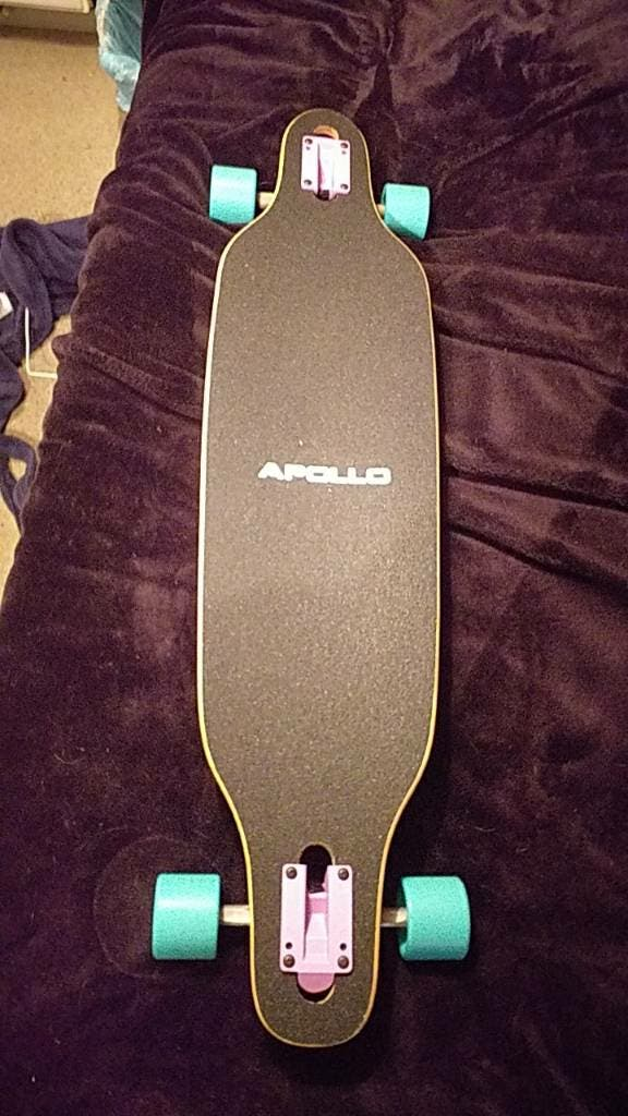apollo longboard with reds bearings