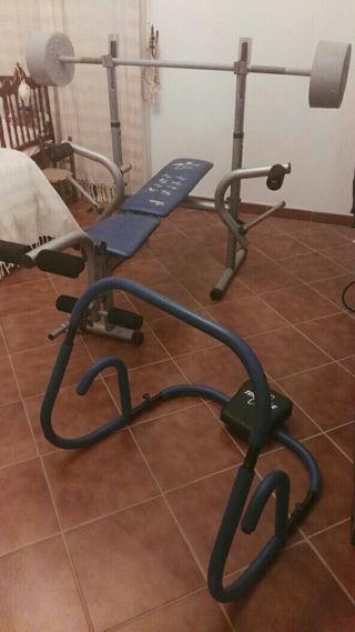 Banco de pesas gimnasia