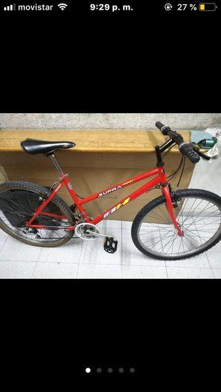 """Bici chica mujer BH Supra 400 rojo 26"""" talla M"""