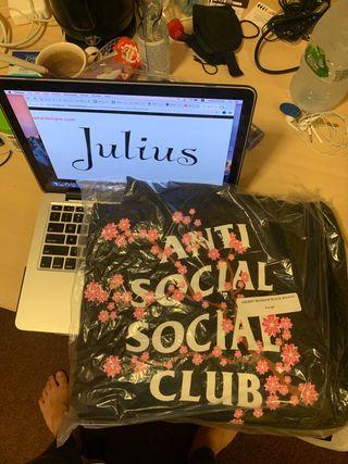 Anti social social club cherry blossom hoodie