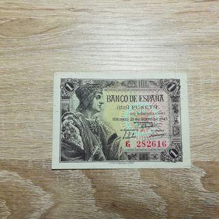 BILLETE DE UNA PESETA 1943 - SERIE G