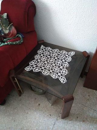 mesas cristal salón