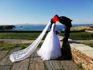 vestido novia velo zapatos ramo can can talla 38
