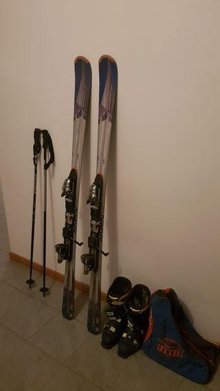 Equipo Esquís + Fijaciones + Botas + Bastones