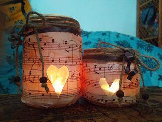 PORTAVELAS CONJUNTO LOVE MUSIC AMOR MUSICA