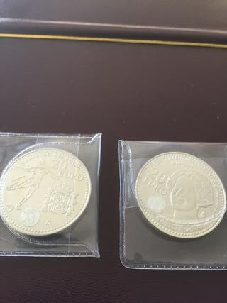 Monedas de plata de 20€ euros