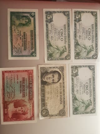 lote billetes de pesetas España