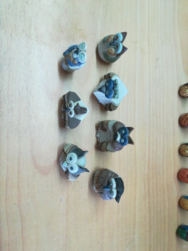 Colección búhos mármol