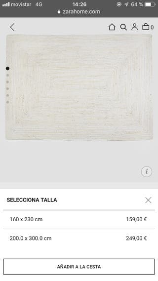 Alfombra Zara de segunda mano en la provincia de Barcelona en WALLAPOP 4b2bd2a0e6b