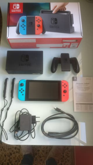 Nintendo Switch Rojo Neón Azul Neón