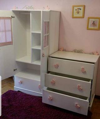 Armario y cómoda infantil