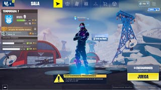 Fortnite account with galaxy skin