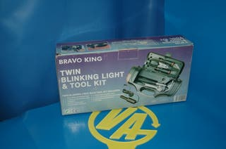 Maletin herramientas + linterna BRAVO KING nuevo