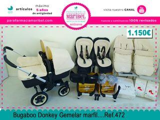 Carrito Bugaboo Donkey Gemelar Marfil Ref.472