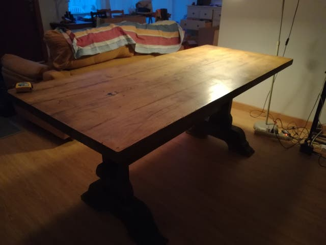 Mesa comedor antigua madera maciza de segunda mano por 200 € en ...