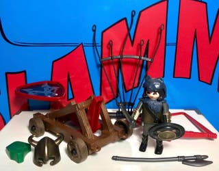 PLAYMOBIL 4812 Catapulta de Guerreros Lobo