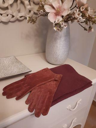 Bufanda y guantes mujer