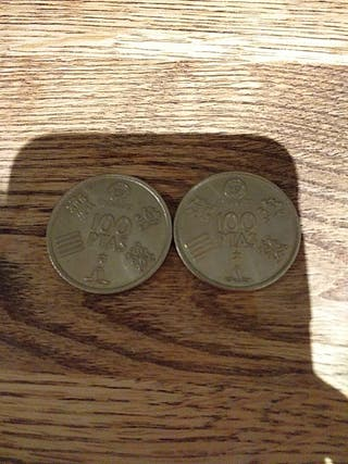 2 monedas