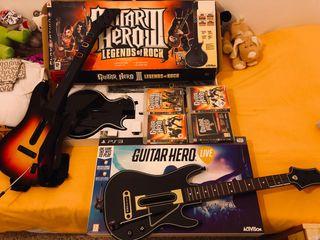 Sony PlayStation 3 slim 120GB Ps3 guitar hero