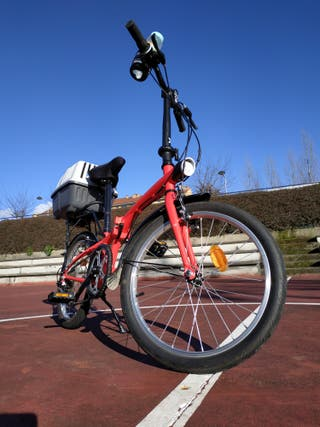 bicicleta plegable seminueva