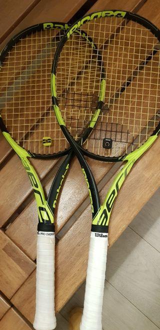 Dos raquetas Babolat Aero Pure