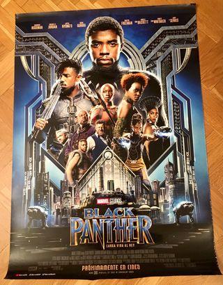 Cartel de cine pelicula Black Panther de Marvel