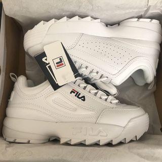 White Fila disruptor trainers